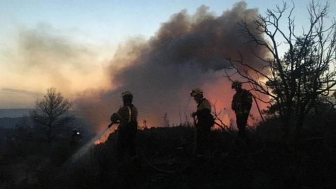 Imágenes aéreas del incendio de la Ribera dEbre.