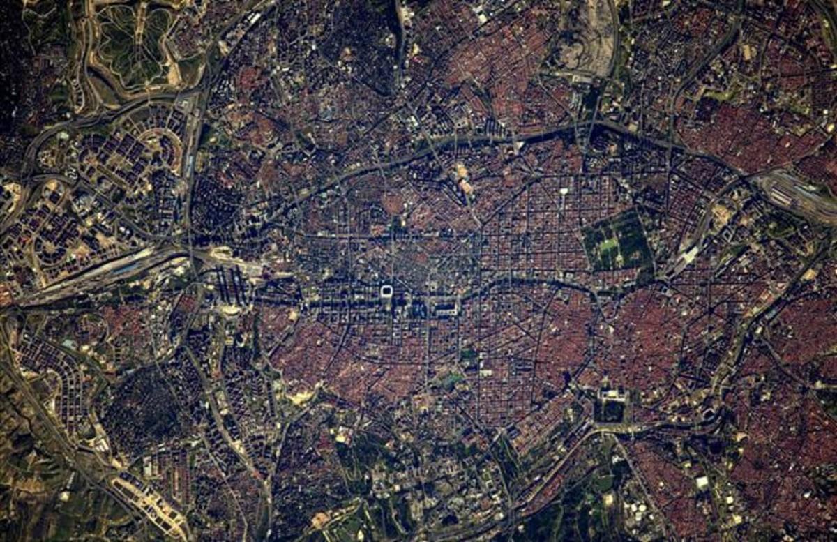 Madrid vista desde el espacio