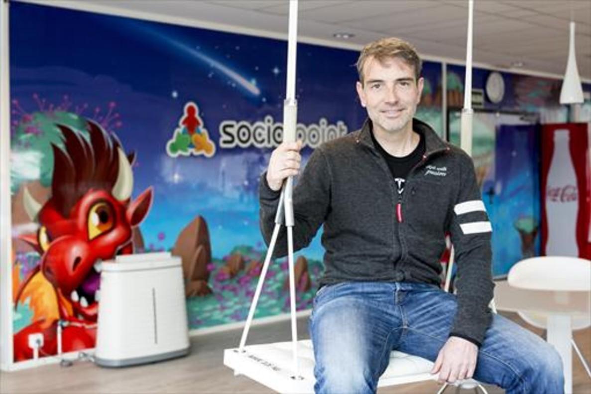 Joaquim Lecha, en la sede de Social Point.