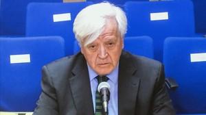 El exasesor jurídico de la casa real, José Manuel Romero, conde de Fontao en su declaración como testigo ante el tribunal de Palma por el 'caso Nóos'