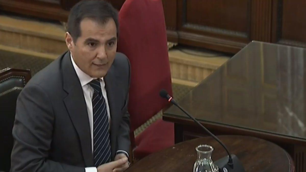 José Antonio Nieto, en su declaración en el Supremo.