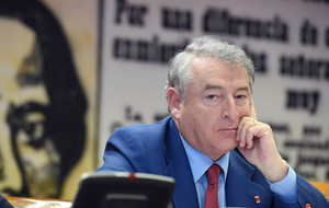 El presidente de RTVE, José Antonio Sánchez, en una comparecencia, en la Comisión Mixta de Control Parlamentario de la Corporación y sus Sociedades.