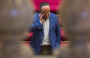 El diputado popular, Alejandro Fernández, en el Parlament.