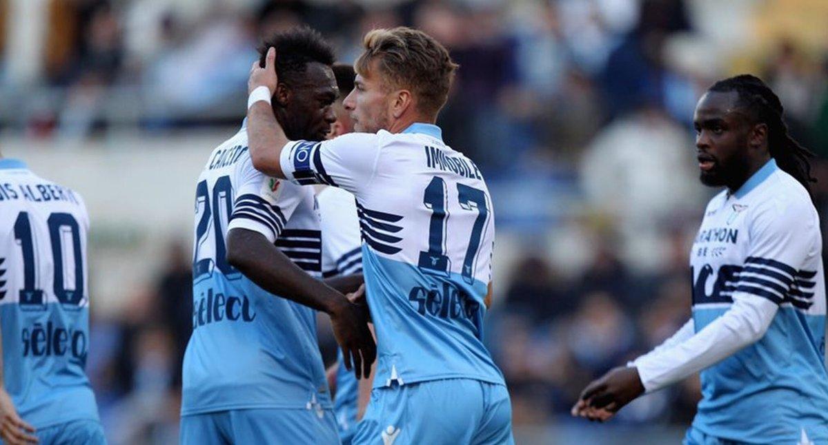 La Lazio goleó con destacada actuación de Immobile