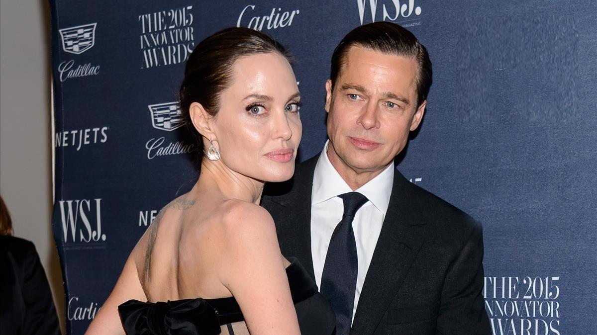 Angelina Jolie y Brad Pitt, en el 2015.