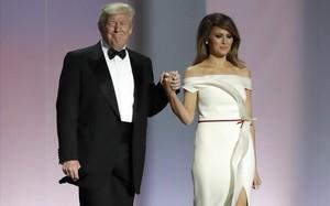 Donald y Melania Trump, el pasado 20 de enero, antes de su baile presidencial.