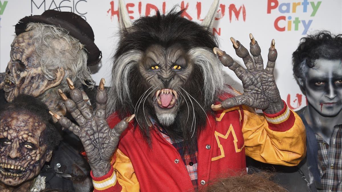 Heidi Klum, disfrazada de Michael Jackson en Thriller