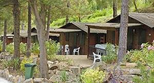Los bungalós del camping de Tossa de Mar (Selva) donde sucedieron los hechos.