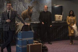 Tres de los actores:Jon Hamm, Jeff Bridges y Cynthia Erivo (de izquierda a derecha).