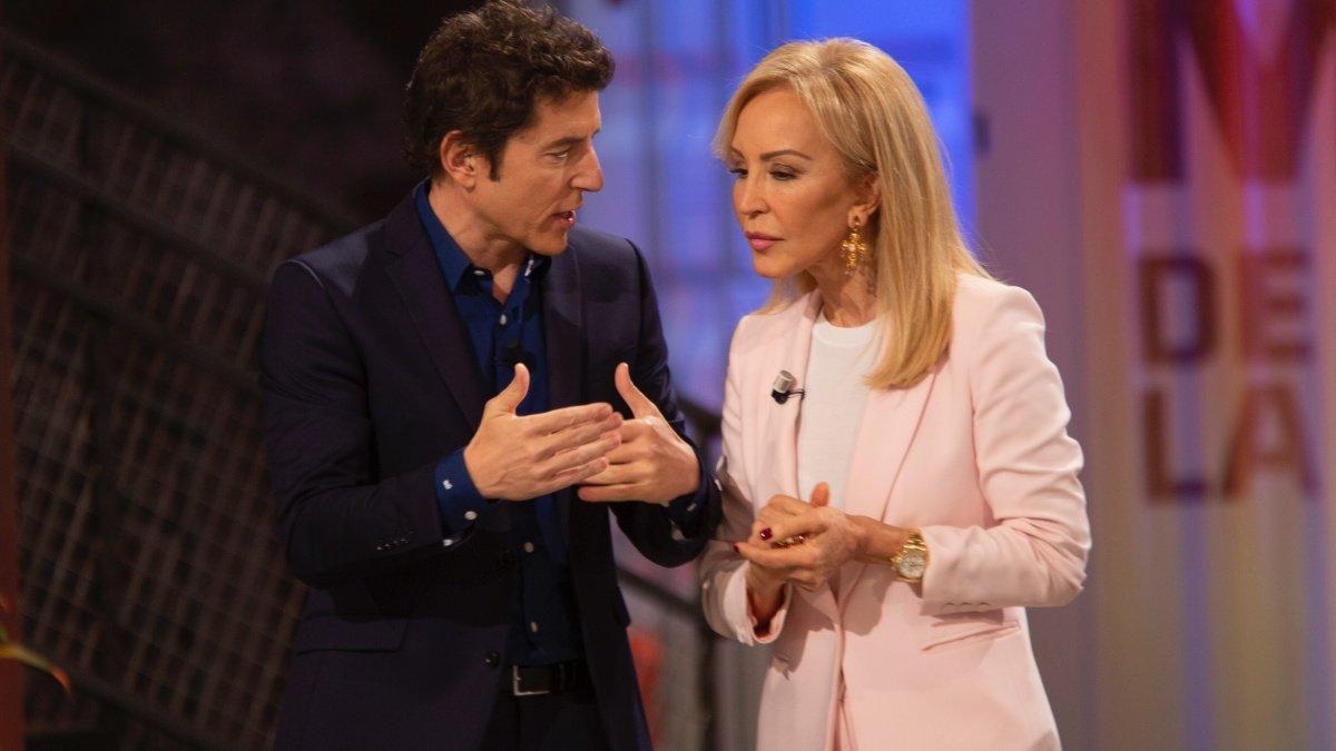 Manel Fuentes y Carmen Lomana en el segundo programa de Masters de la reforma.