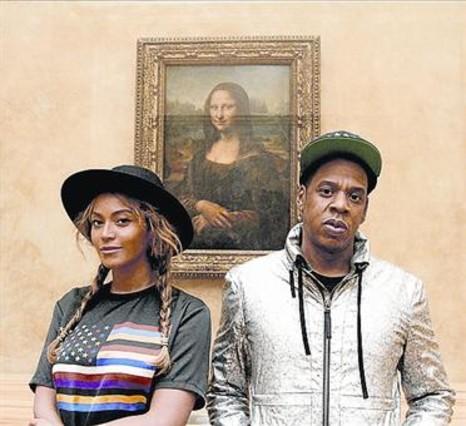 Beyoncé y Jay-Z, frente a La Gioconda.
