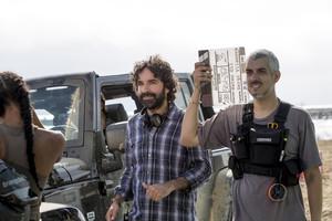 El cineasta Mateo Gil, durante el rodaje de Las leyes de la termodinámica, que abre el festival de Málaga.