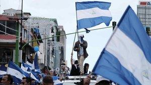 Miles de nicaraguenses protestan este domingo en San Jose Costa Rica.