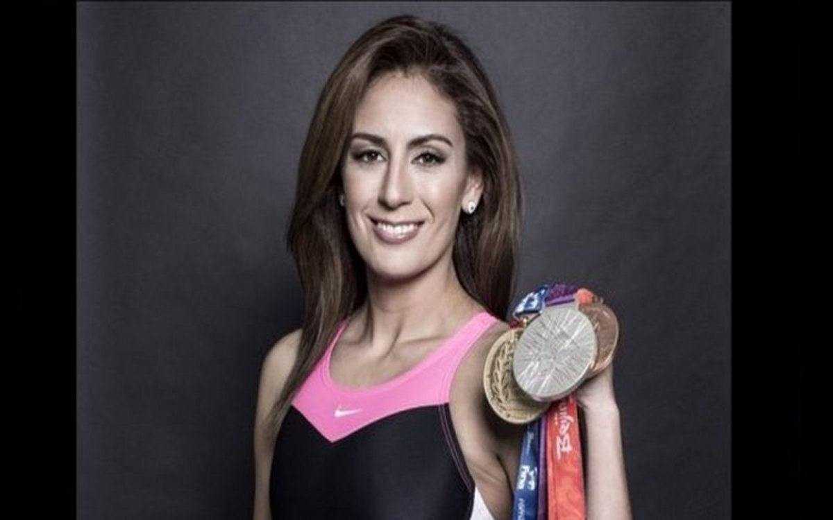 La clavadista mexicana Paola Espinosa, medallista olímpica.