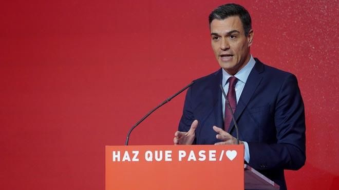 Pedro Sánchez reclama a la gente que acuda a las urnas el 28-A.