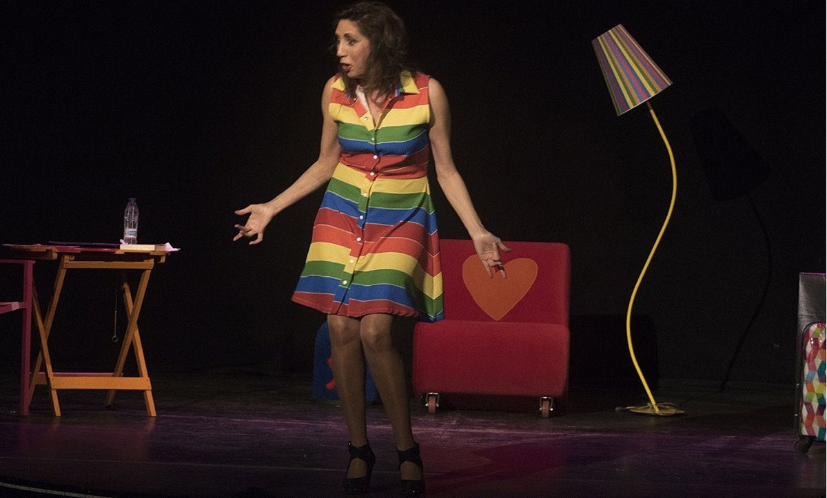 Pilar Ordóñez, en un momento del espectáculo 'Miss Tupper Sex', en la sala Ars.