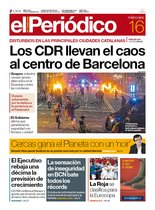 La portada de EL PERIÓDICO del 16 de octubre del 2019.