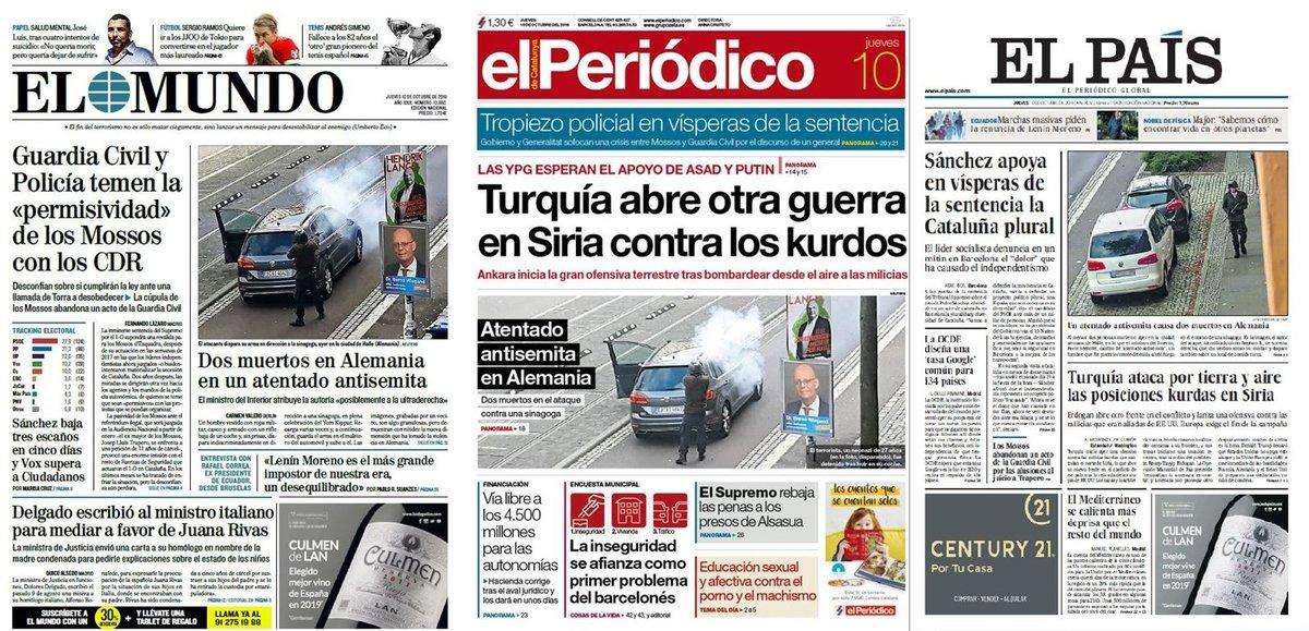 Prensa de hoy: Las portadas de los periódicos del jueves 10 de octubre del 2019