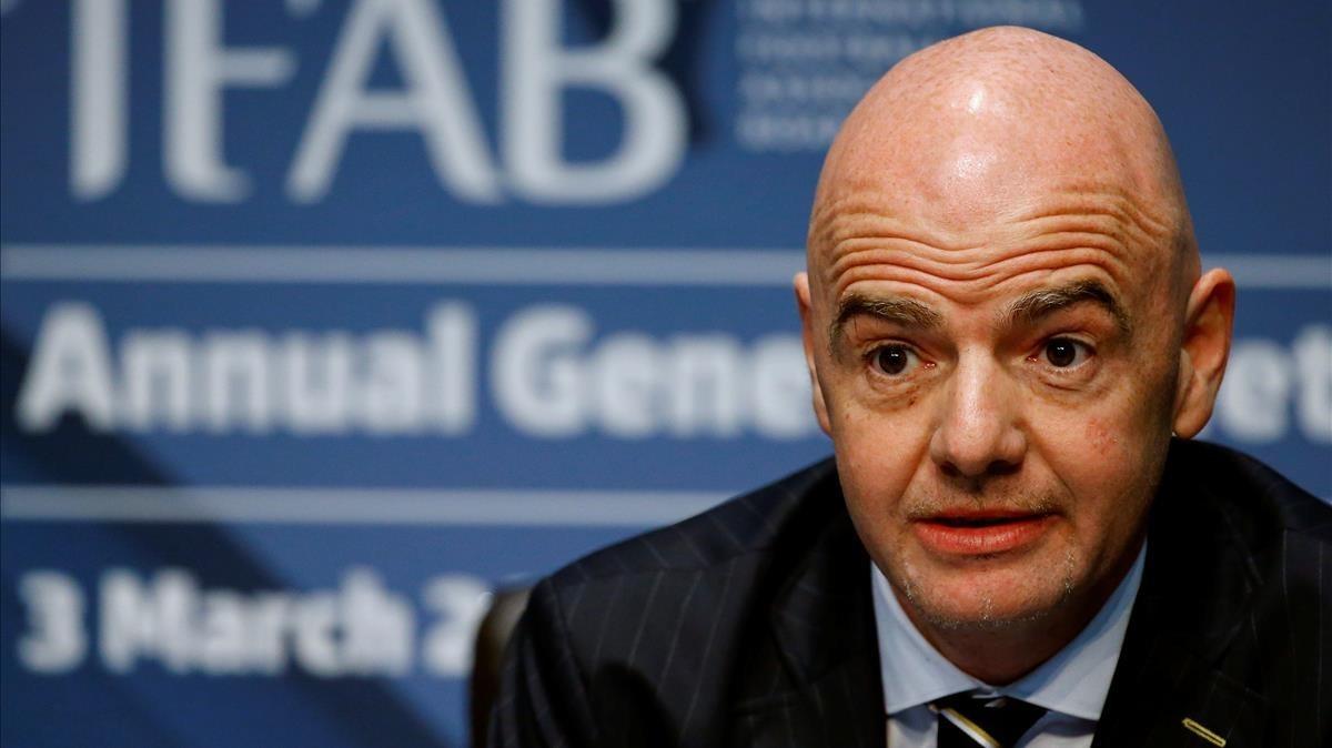 El presidente de la FIFA, Gianni Infantino.