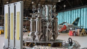 Prototipo del reactor Krusty para viajes espaciales.