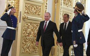 Putin, en el Kremlin.