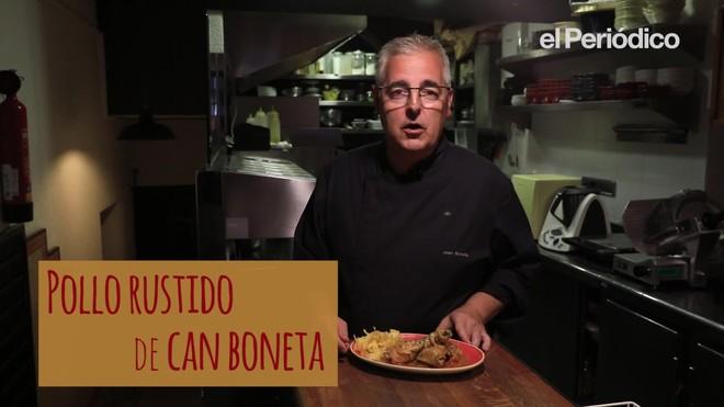Joan Boneta, chef de Can Boneta, explica cómo hace el pollo asado que tan bien le salía a su madre.