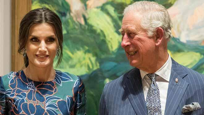 La reina Letizia y el príncipe de Gales inauguran una exposición de Sorolla en Londres.