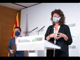 Rueda de prensa de Teresa Jordà y Pere Aragonès.
