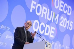 El secretario general de la OCDE, José Ángel Gurría.