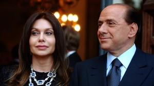Verónica Lario y Silvio Berlusconi, en el 2004.