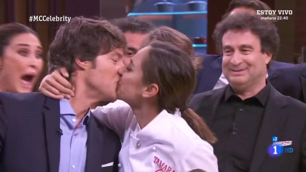 El beso final de Tamara a Jordi ('Masterchef Celebrity').