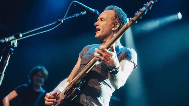 Sting, durante el concierto de la sala Bataclan.