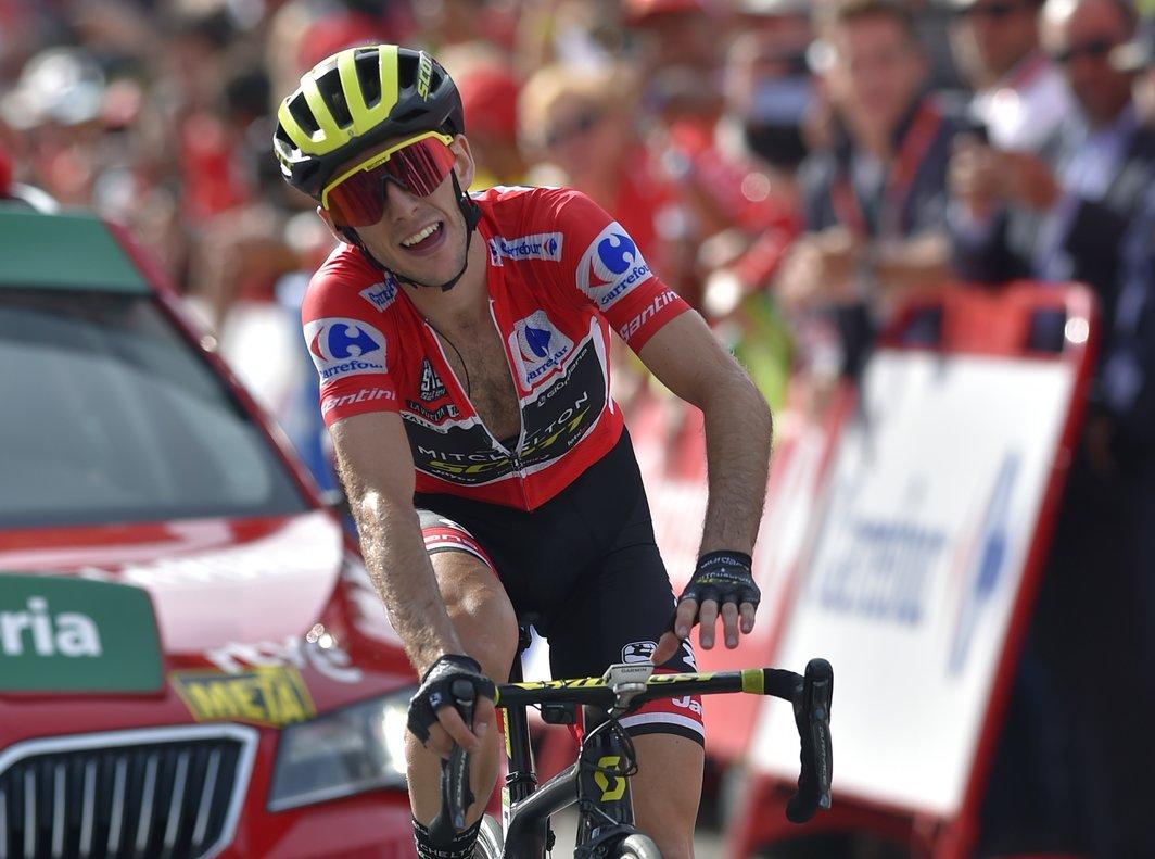 Simon Yates, residente en el Principado, en la meta de La Rabassa, el año pasado, en la Vuelta.
