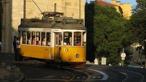 Un tanvía de Lisboa.