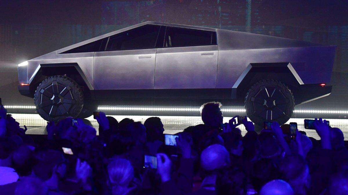 Tesla Cybertruck en su presentación el pasado mes de noviembre.