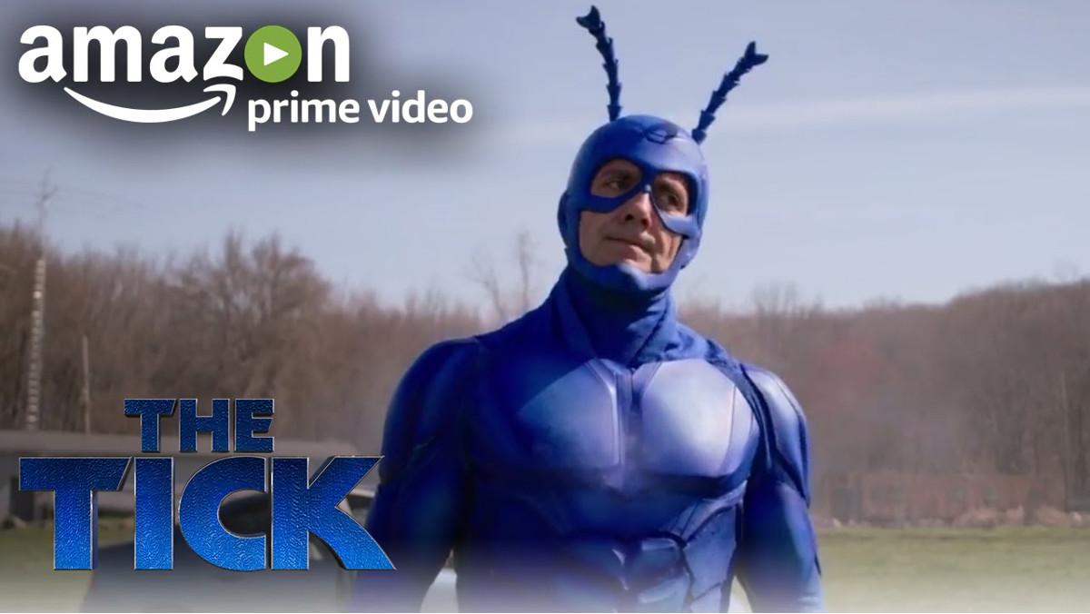 Imagen promocional de la nueva serie de humor de Amazon The Tick.