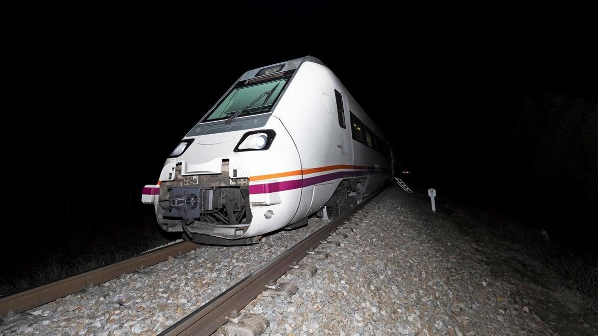 Un tren de media distancia.