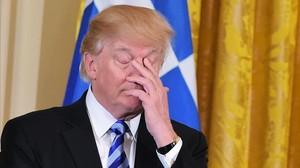 Trump, en un acto en la Casa Blanca, el 24 de marzo.