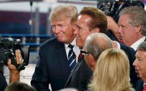 Arnold Schwarzenegger, exgobernador de California y el presidente de los EEUU, Donald Trump.