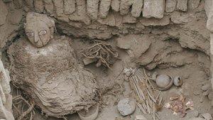 Una momia wari.