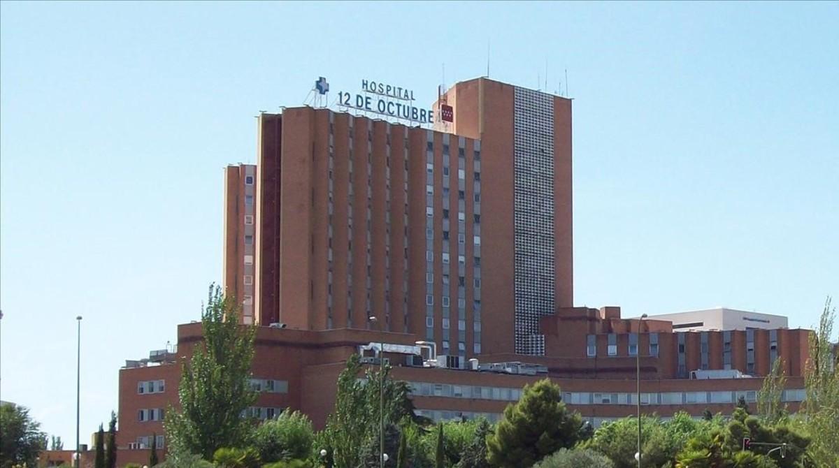 Fachada del Hospital 12 de Octubre de Madrid.
