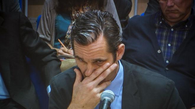 Urdangarin, durante su declaración ante el tribunal que juzga el caso Nóos.