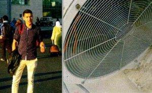 A la izquierda, Younes Abouyaqoub, en el aeropuerto de Tánger. Ala derecha, extractor del aire acondicionado de un centro comercial de esa ciudad marroquí (imágenes de la tarjeta de memoria del terrorista).