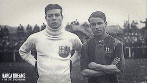 Zamora y Samitier, en la edad de oro del Barça.