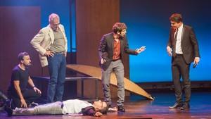 Un momento de la gala 'Catalunya aixeca el teló', de presentación de la temporada teatral, en el Liceu.