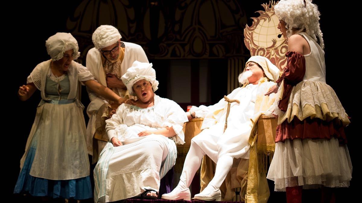 Representación de la compañía Alquimistes Teatre.