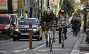 Un 89% dels barcelonins tenen carril bici a menys de 300 metres de casa