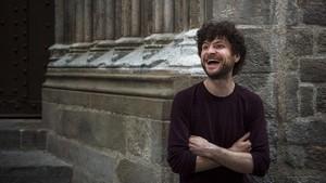 Michael League, el líder del grupo de jazz Snarky Puppy, en Barcelona, el pasado mayo.