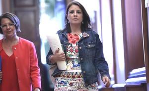 Adriana Lastraen el Congreso de los Diputados.
