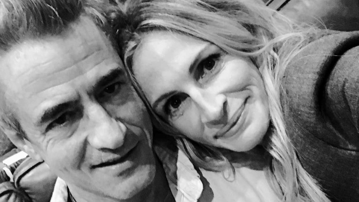 Dermot Mulroney y Julia Roberts, en una foto colgada por la actriz en su cuenta de Instagram.